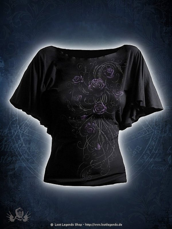 Entwined Girlie Latin Shirt schwarz SPIRAL