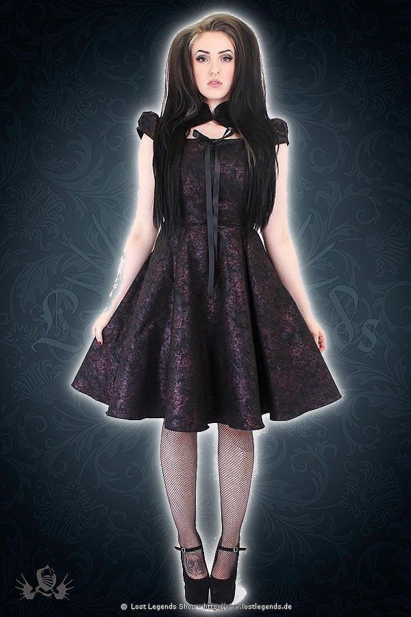 Esme cap sleeve collar Kleid