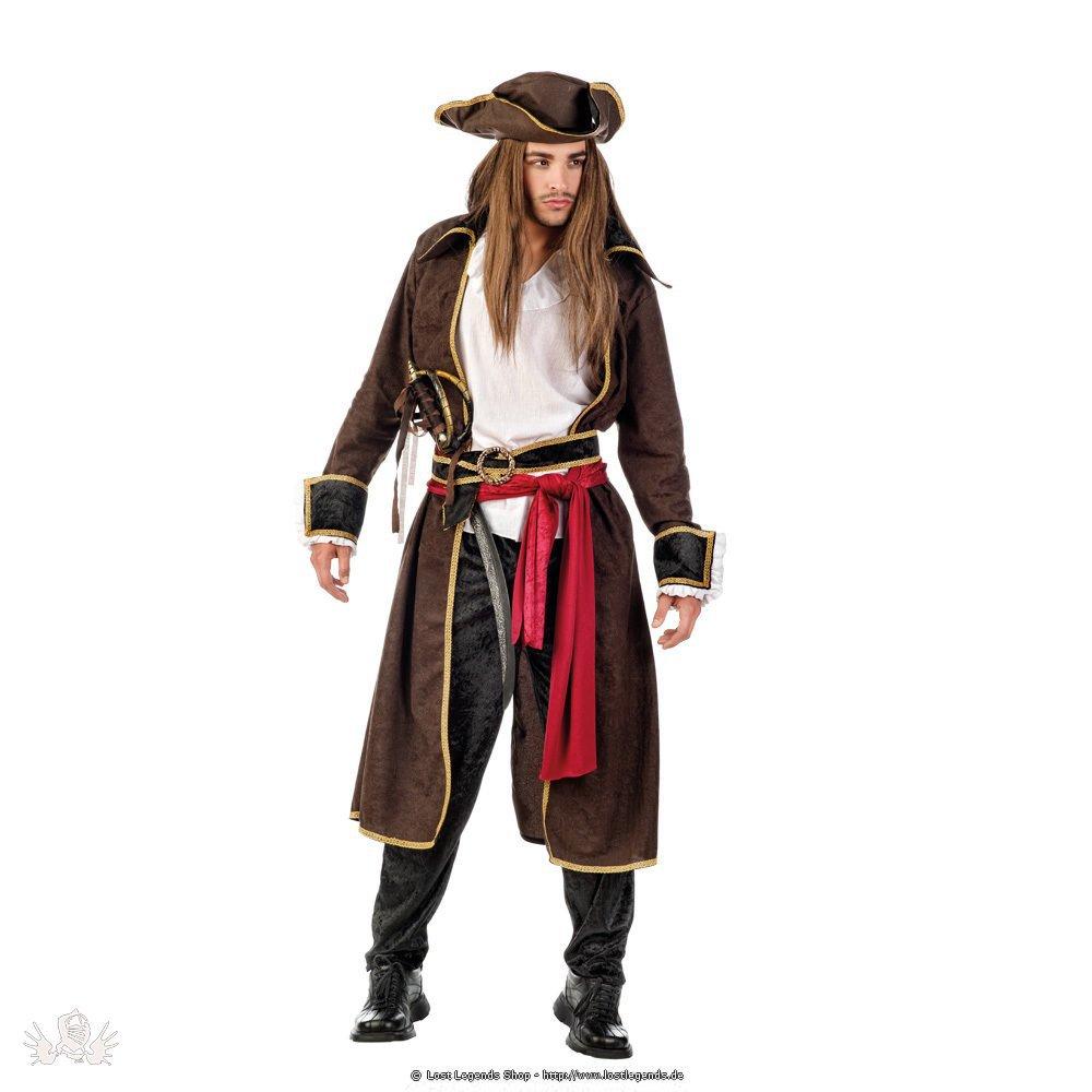 Faschingskostüm Pirat inklusive Hut und Accessoires