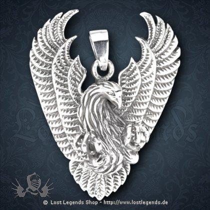 Feuervogel-Anhänger Silber