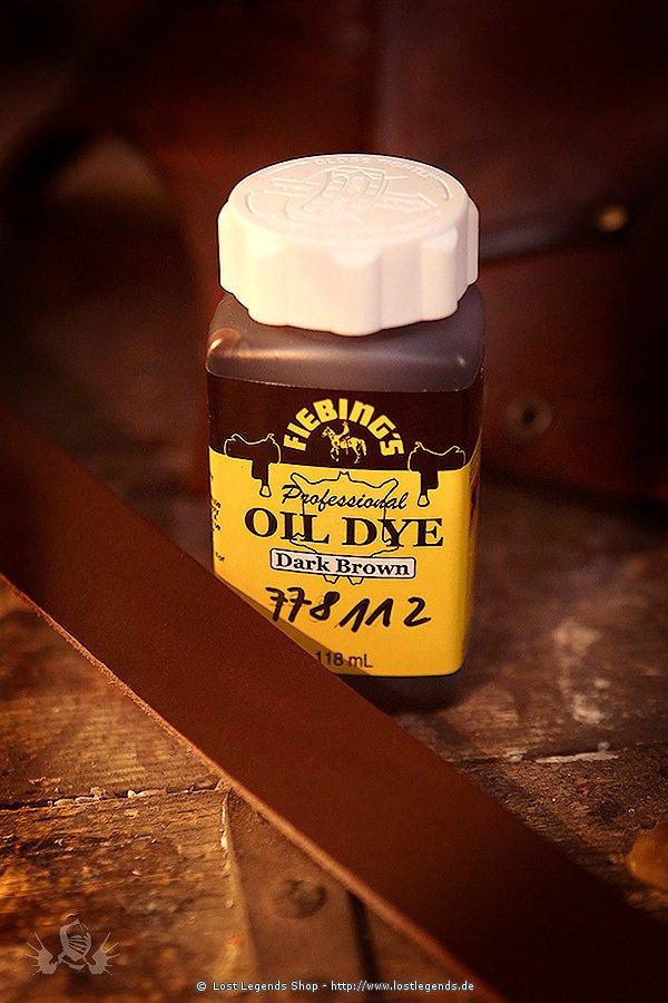Fiebings Oil Dye Lederfarbe, 118 ml dunkelbraun