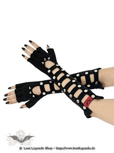 Fingerlose Handschuhe mit Nieten