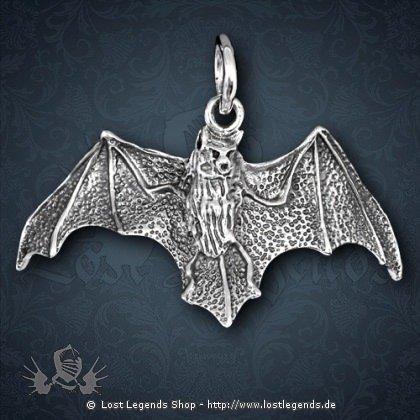 Fledermaus Anhänger Silber