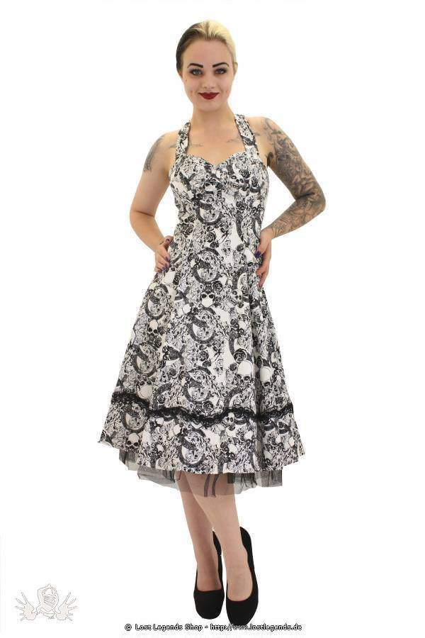 Floral Skull Gothic Pinup Kleid