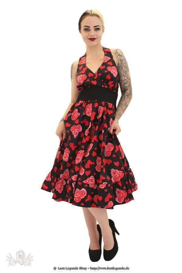 Flowers and Hearts Pinup Kleid