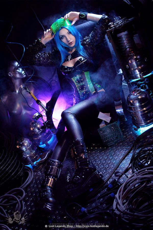 Foto-Shooting im Cyberpunk-Stil
