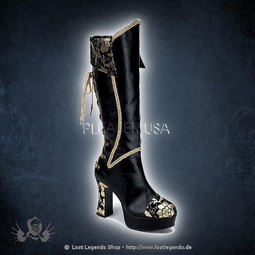 Funtasma EXOTICA-2030 Black-Gold Leatherette