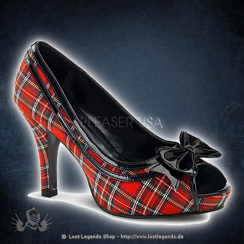 Funtasma PREPPY-03X Rot Plaid-Schwarz