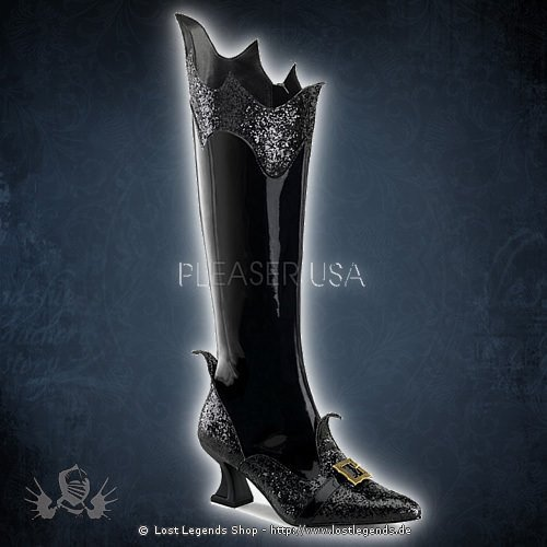Funtasma WITCH-101 Black Patent Leather-Glitter