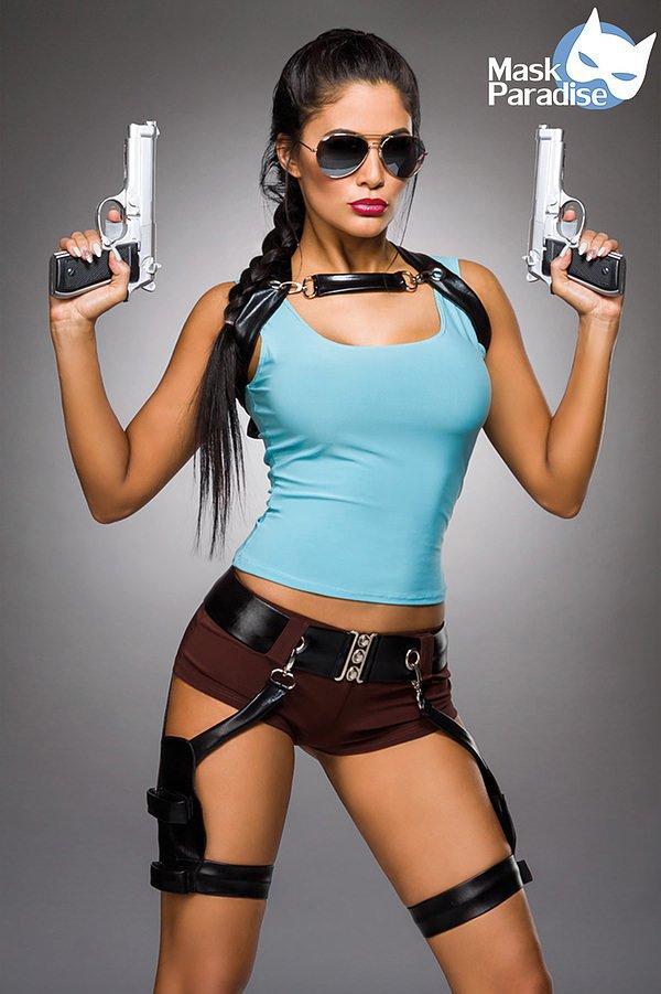 Gamer Girl Komplettset blau/braun