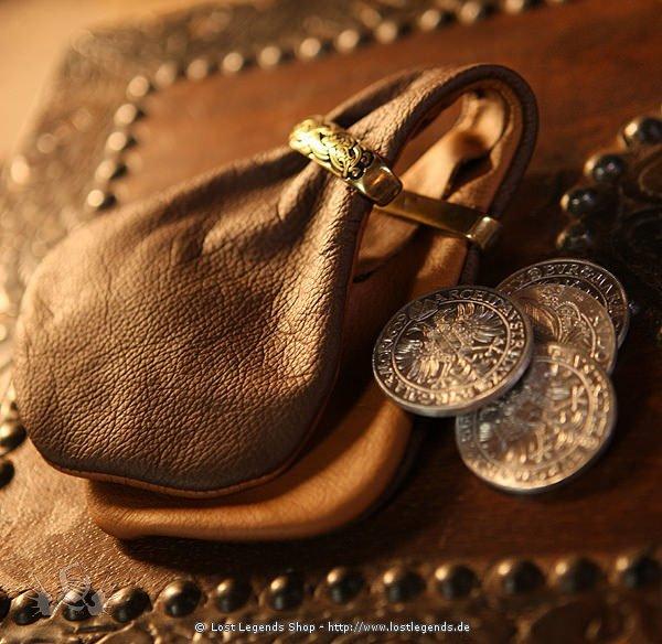 Geldkatzen-Beutel Leder