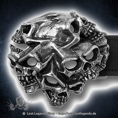 Gestalt Skull Gürtelschnalle
