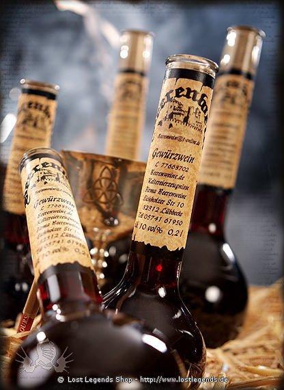 Gewürzwein 0,5l Elixierflasche