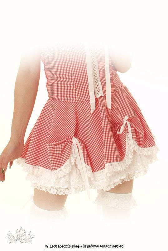 Gingham Dolly Pin Up Skirt