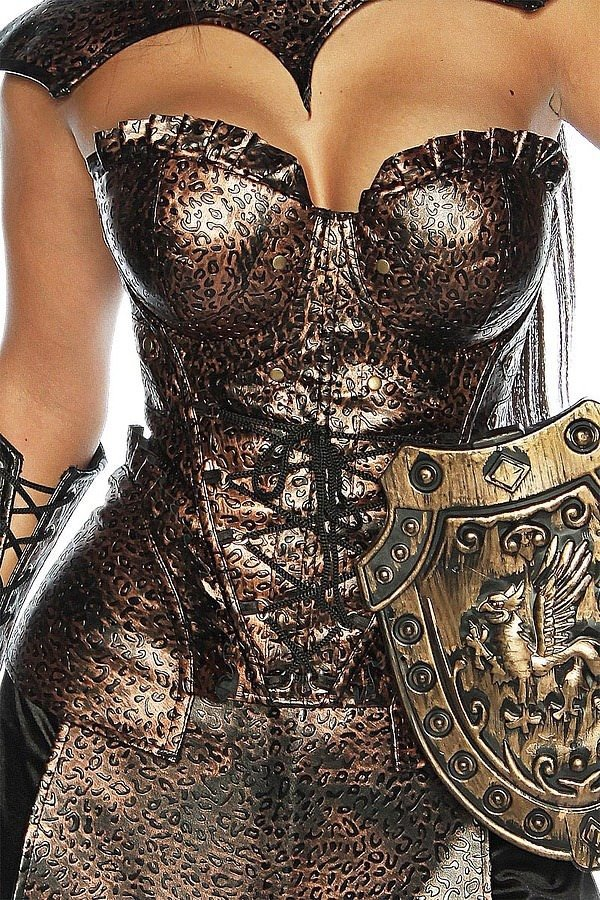 Gladiatorenkostüm braun/schwarz