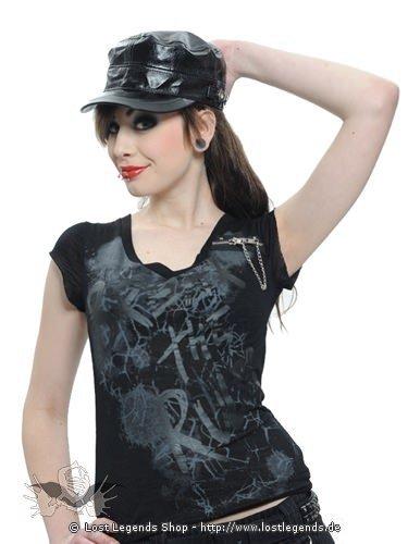 Glänzende schwarze Lackmütze