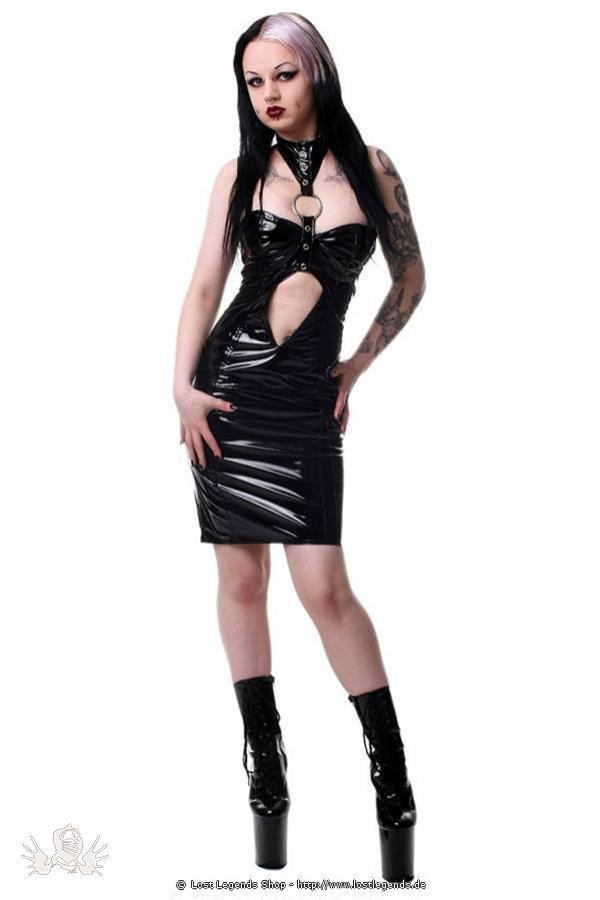 Gloss Collar Gothic Kleid
