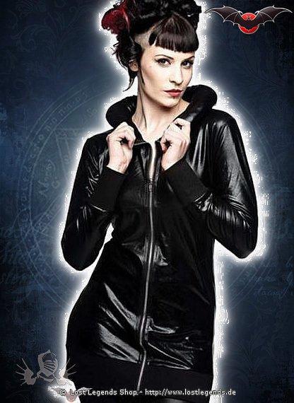 Gloss Gothic Jacke mit gepolstertem Kragen