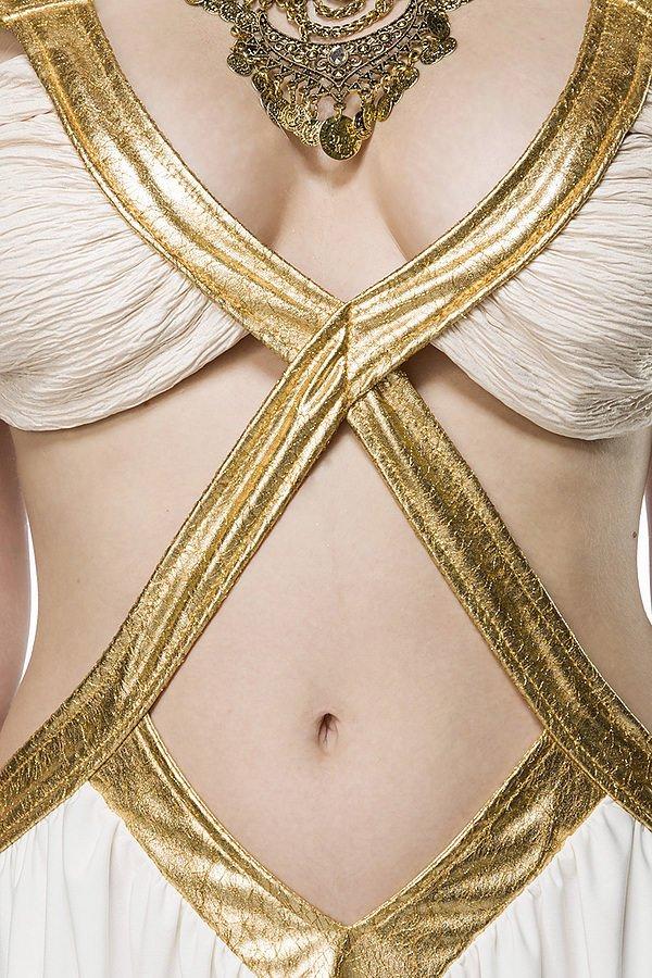 Golden Fairy Kostümset weiß/gold