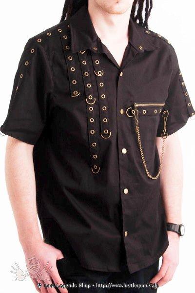 Golden Steam Anarchy D-Ring Shirt Steampunk Hemd