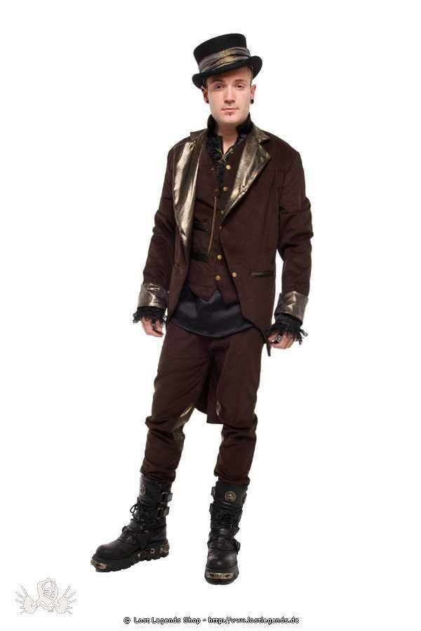 Golden Steam Cord Steampunk Jacke