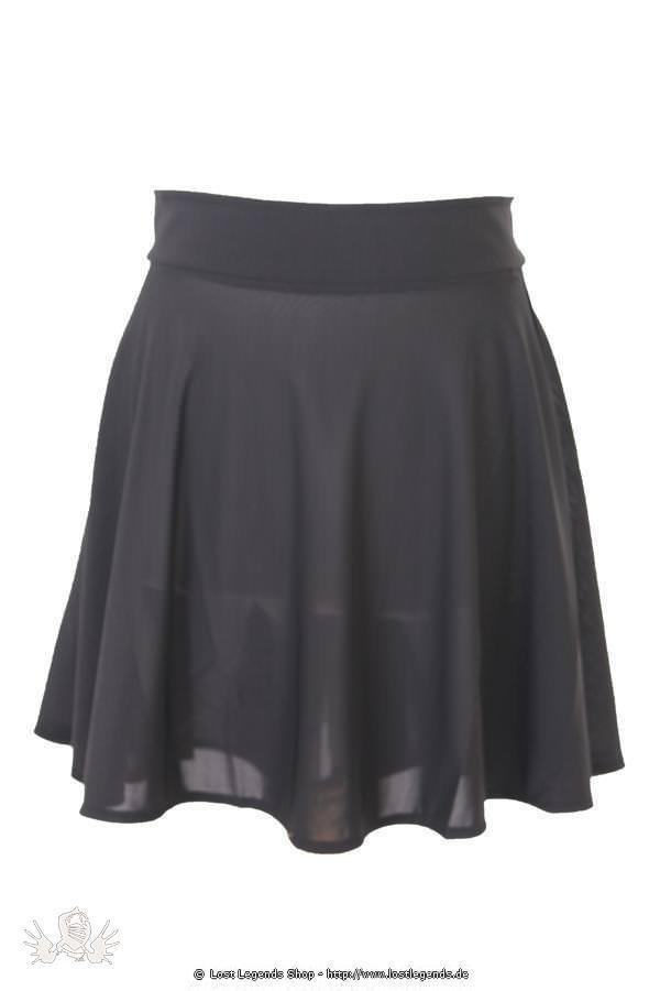 Gomma Mesh Flared Gothic Skirt