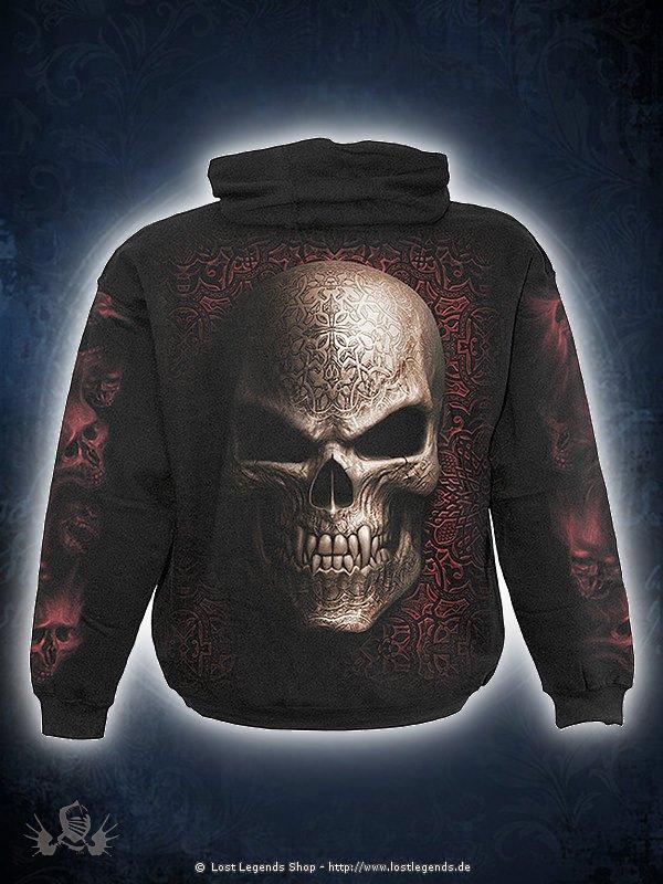 Goth Skull Kapuzensweat schwarz SPIRAL