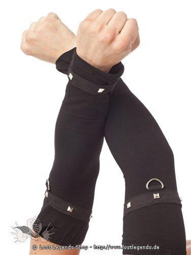 Gothic Armstulpen mit Nieten besetzt