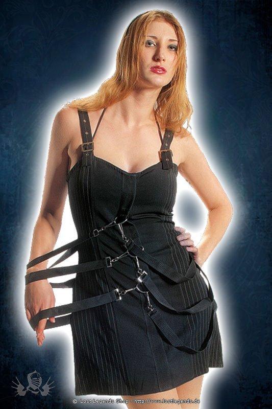 Gothic Belt Strap Kleid