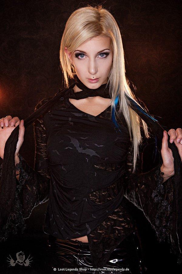 Gothic Bluse mit Fledermäusen