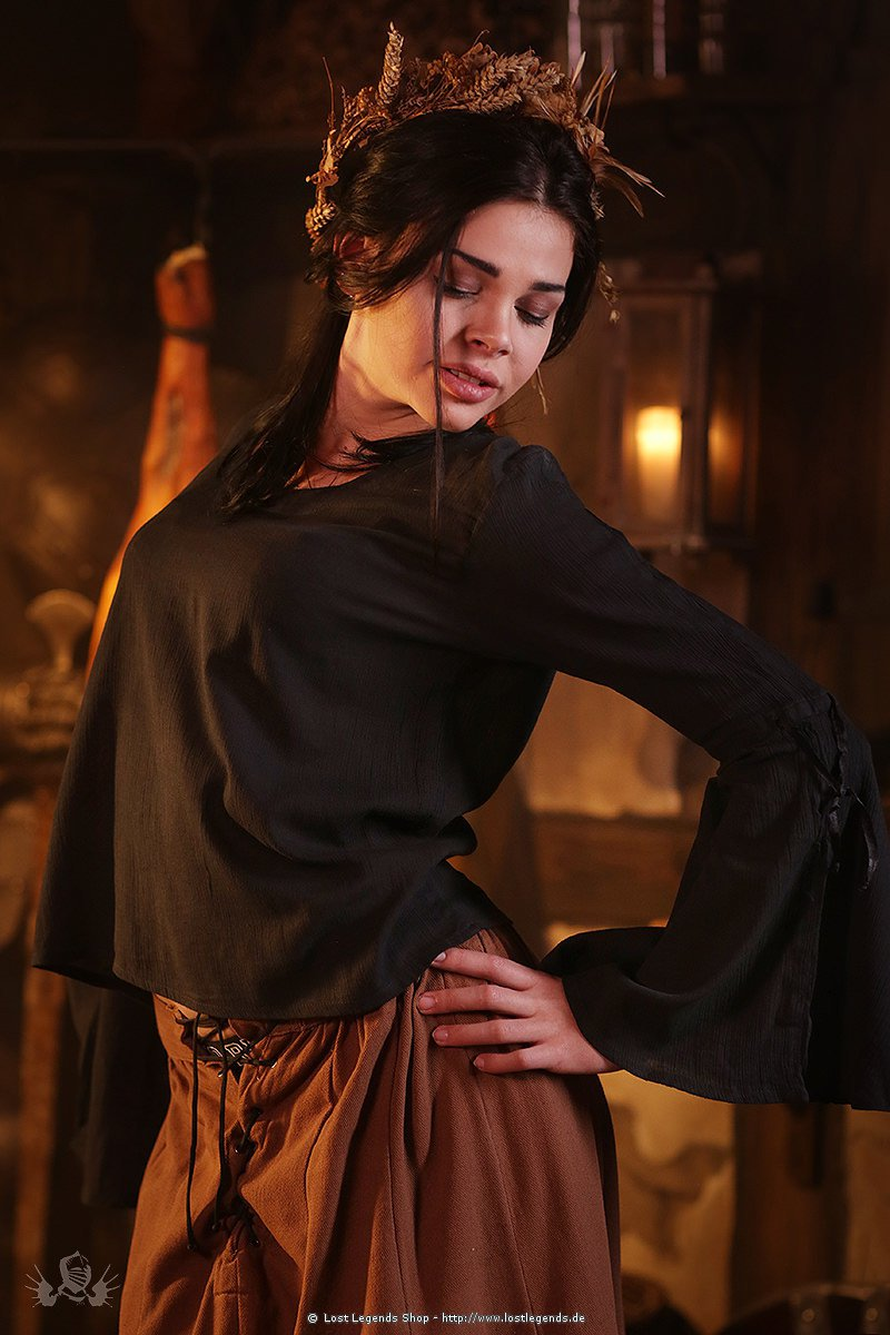 Mittelalterbluse Black Witch