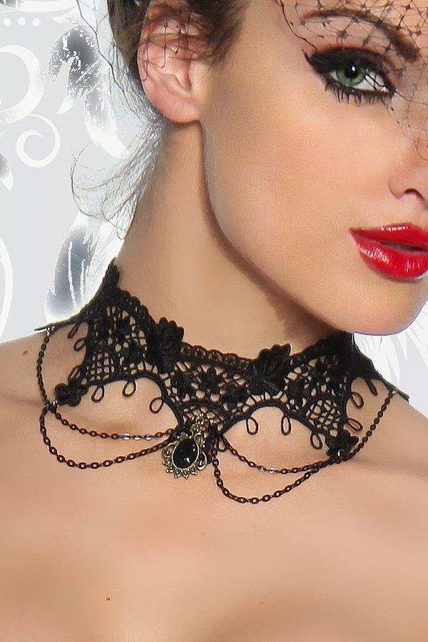 Gothic-Collier schwarz