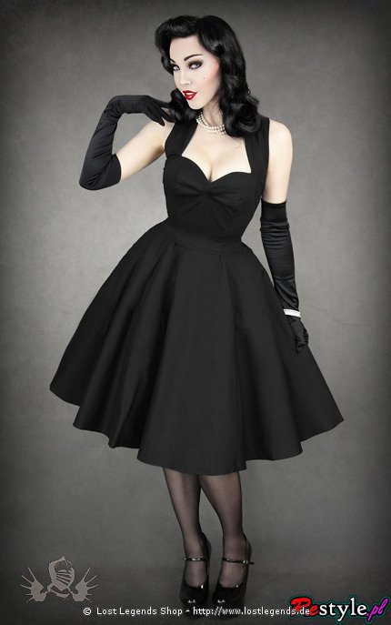 Gothic Kleid 50s BLACK DRESS