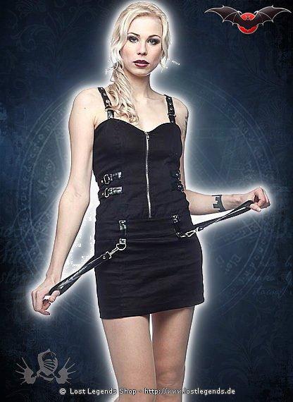 Gothic Kleid mit Schnallen und Bondages