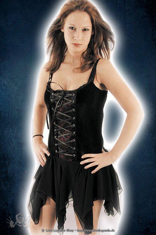 Gothic Kleid mit Zipfelrock