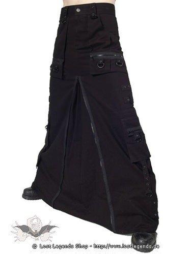 Gothic Männerrock mit langem Reißverschluss