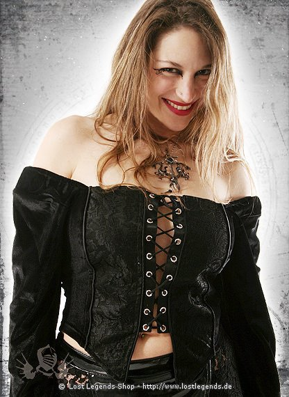 Gothic Miederbluse Chastity