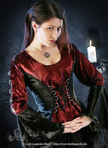 Gothic Miederbluse Darkest Rose