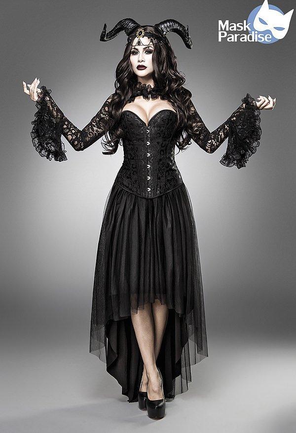 Gothic Queen Kostümset schwarz