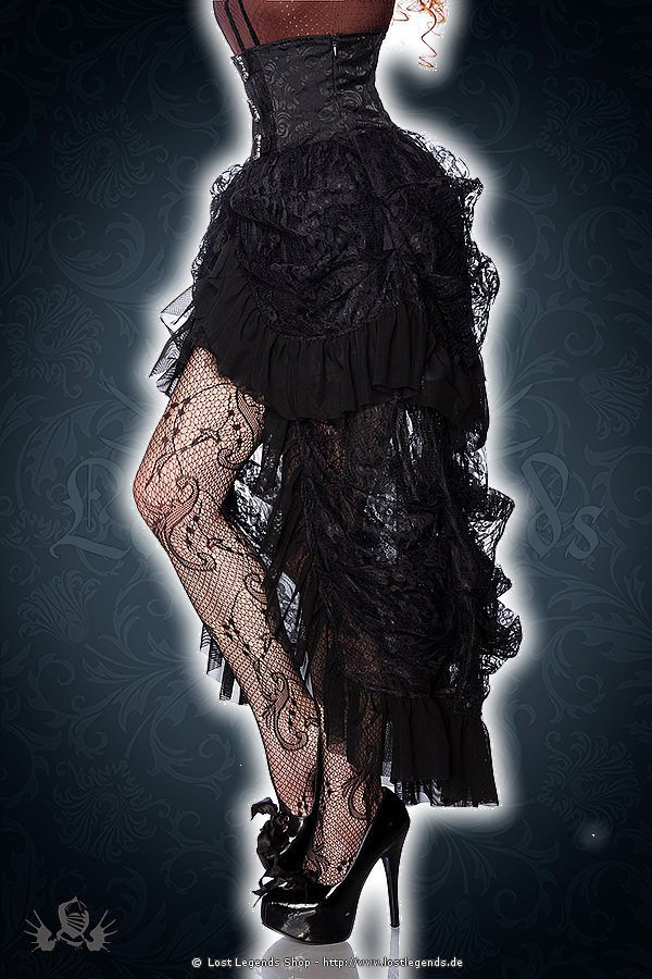 Gothic Rüschenrock schwarz