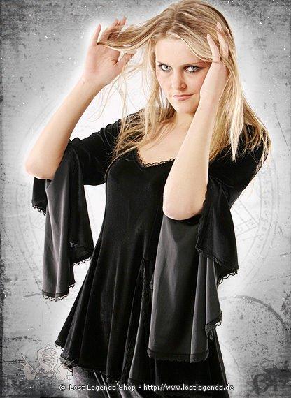 Gothic Samt-Bluse Catheryne