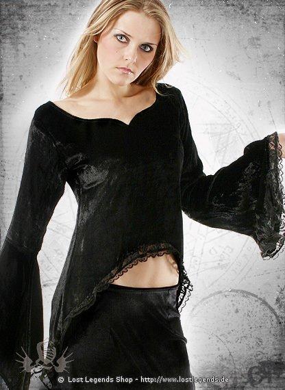 Gothic Samt-Bluse Cryzantine