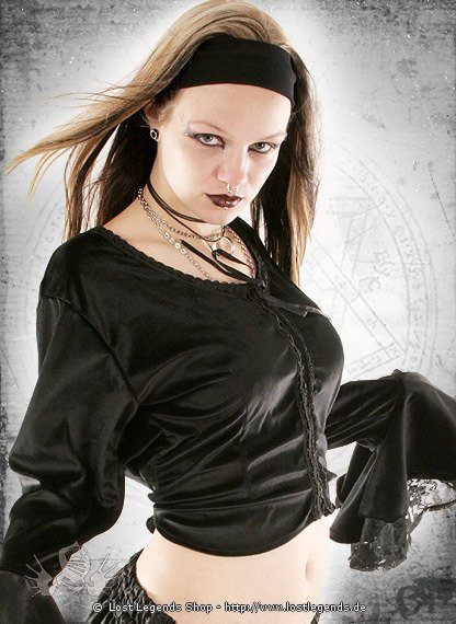Gothic Samt-Bluse Little Katharina