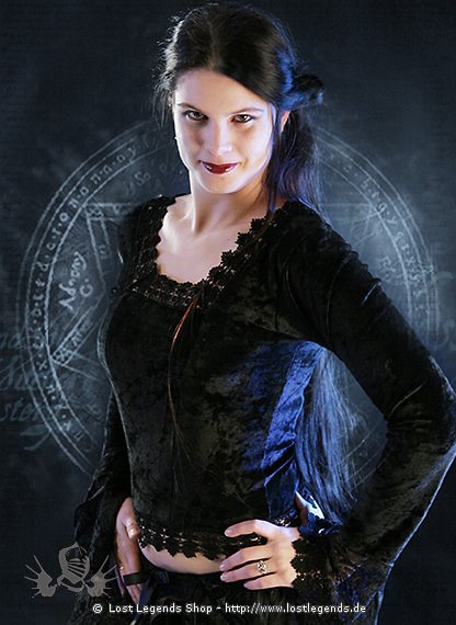 Gothic Samt-Bluse Vicious Lace