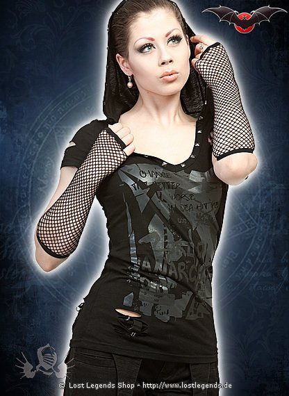 Gothic Shirt mit Kapuze