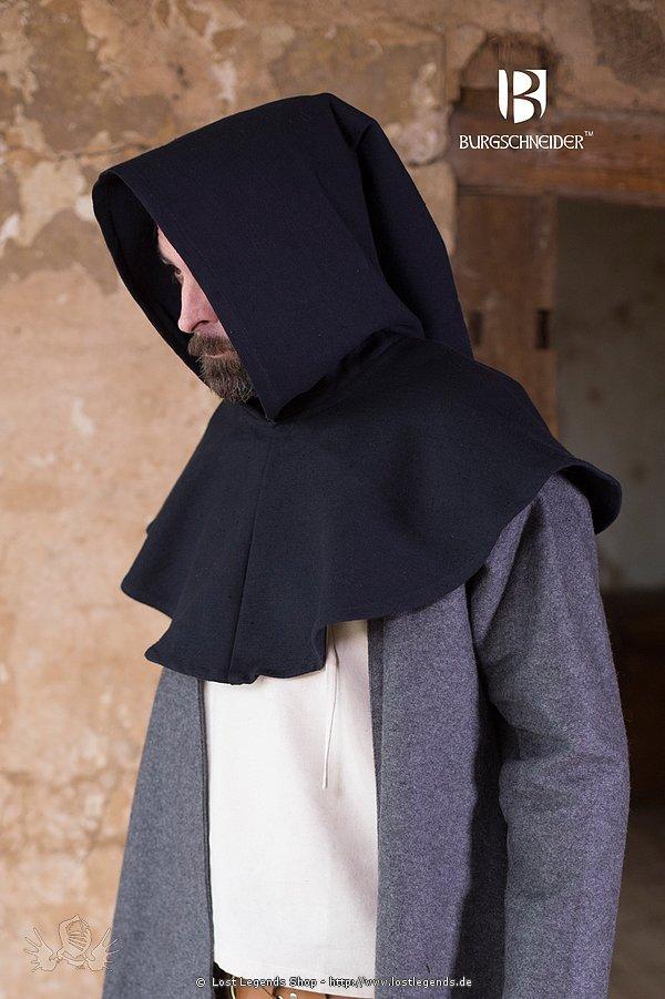 Gugel Capellus Baumwolle, schwarz