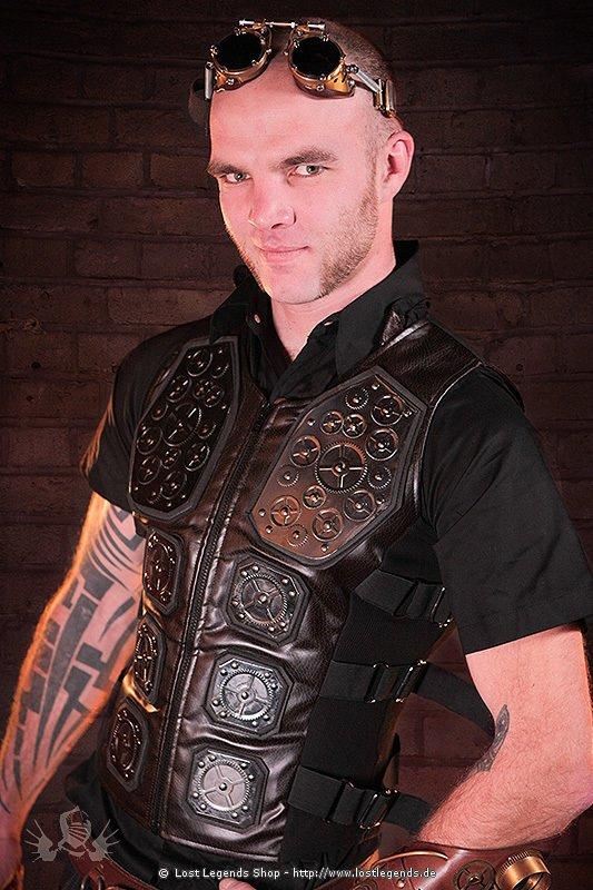 Gun Metal Vest Steampunk Weste