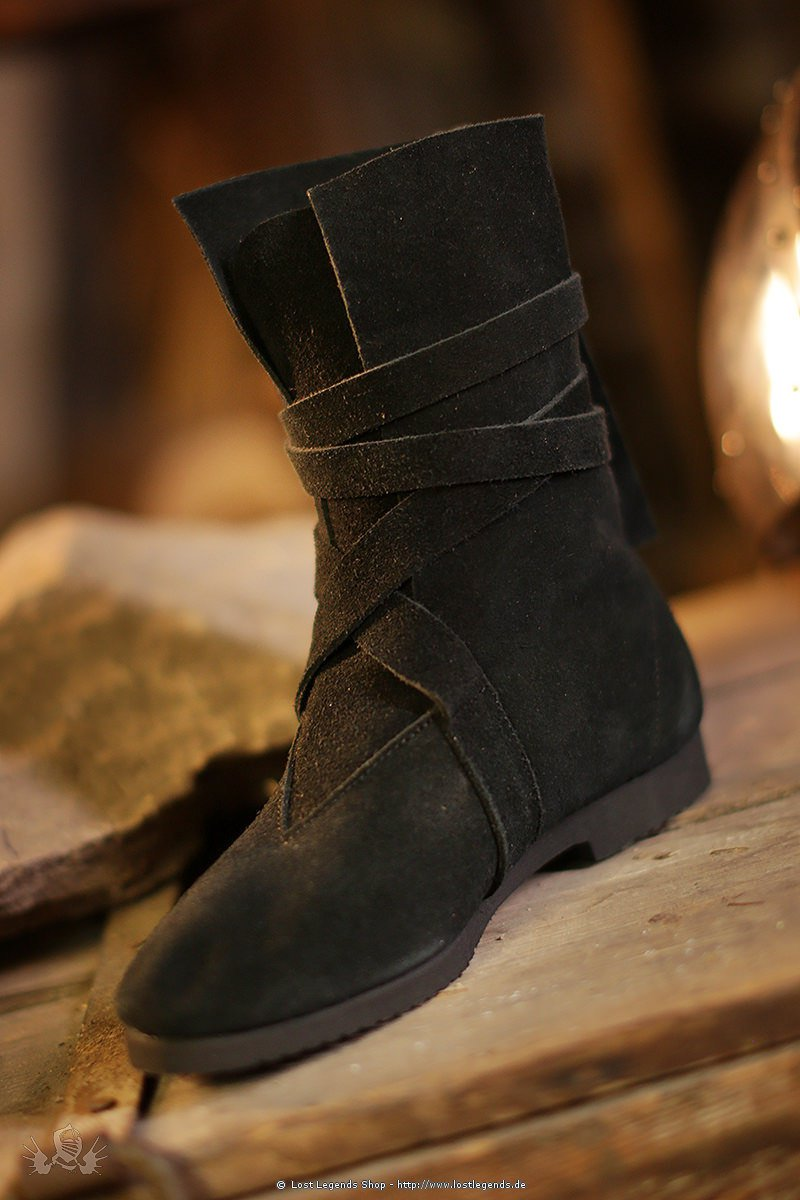 Haithabu-Stiefel Wildleder