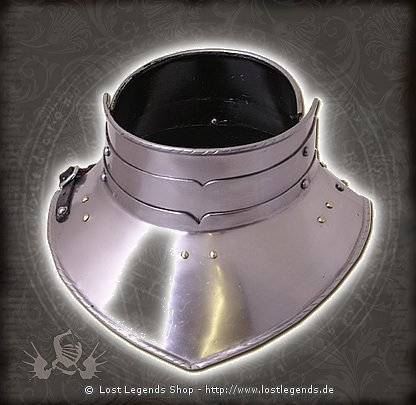 Halsberge, Hochmittelalter 1,6mm Stahl