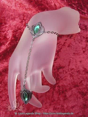 Handkette Eyes of Night dunkelgrün